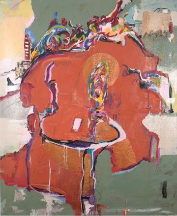 o.T., 2014, Öl auf Leinwand, 160 x 140 cm